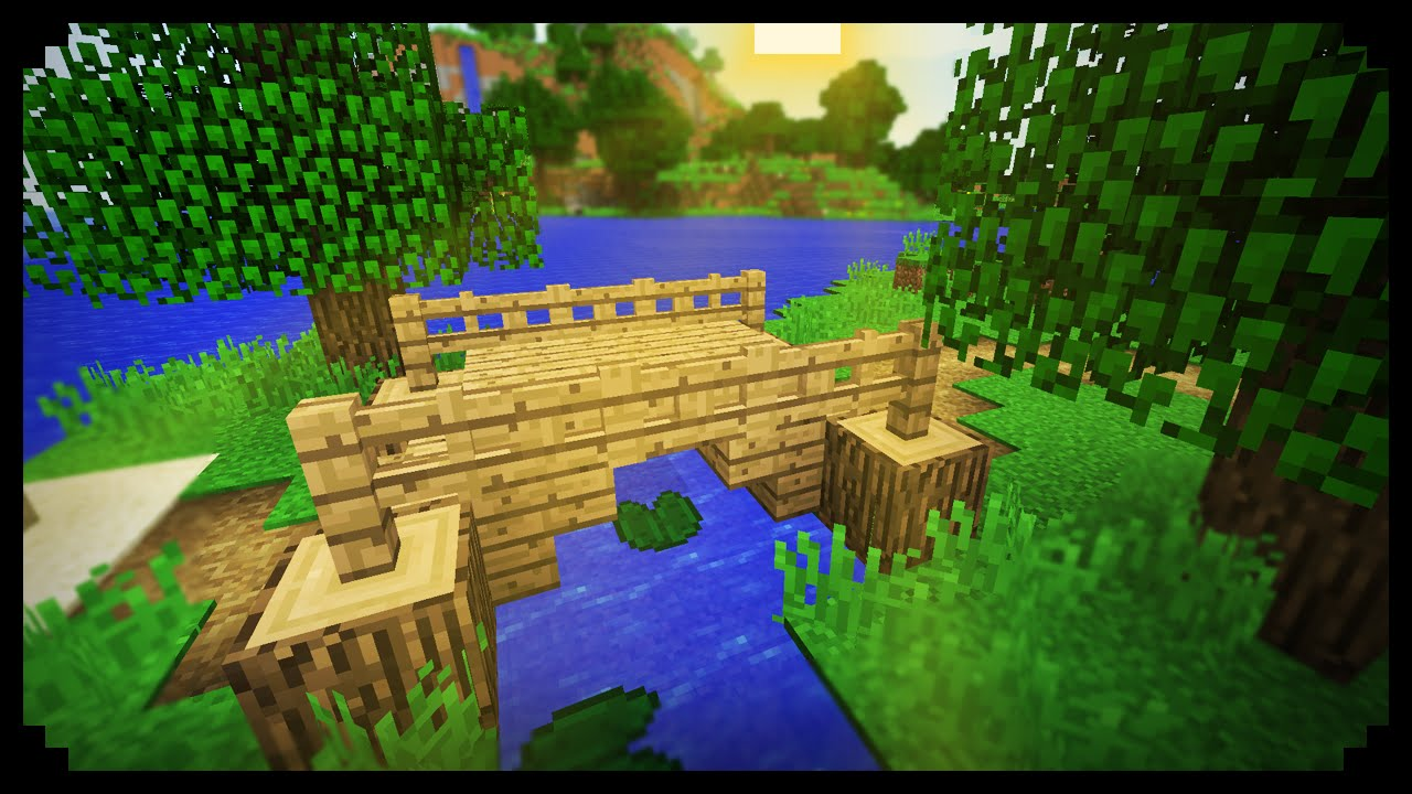 minecraft how to make a small wood bridge - Minecraft Japanese Bridge
