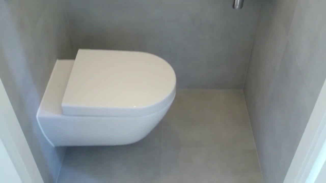 Toilet met tegel en stucwerk youtube