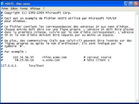 le fichier hosts itunes