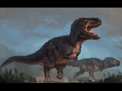 Tyrannosaurus rex digital painting (real-time, no audio)