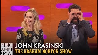 John Krasinski Hit Full Stalker Status With Emily Blunt  - The Graham Norton Show