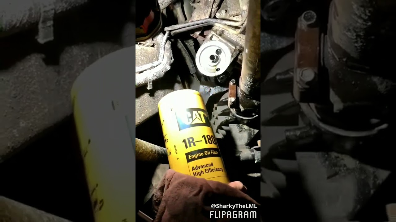 hight resolution of cat oil filter and adapter install 2001 2010 duramax