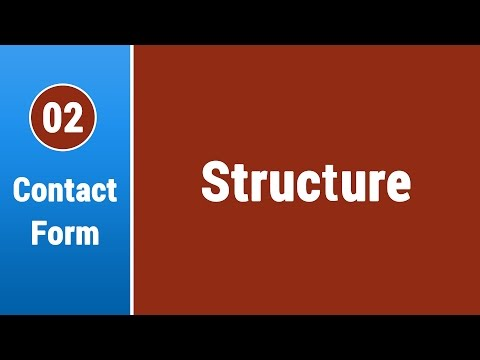 Create Contact Form in Arabic #02 - Application Structure & Main Page