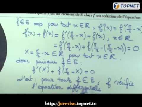 Correction Bac 2009 Examen Math Exercice 5 Bac 2011 Tunisie Cours