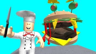 ESCAPE FROM THE EVIL BURGER!!! -ROBLOX