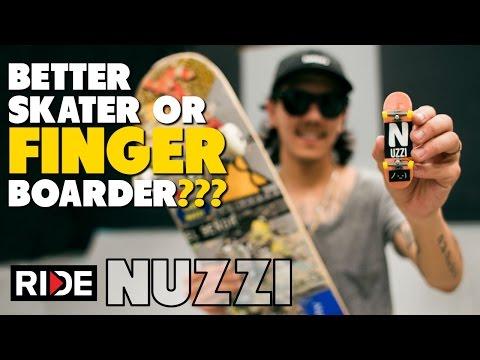 Spencer Nuzzi...Better SKATEboarder or FINGERboarder???