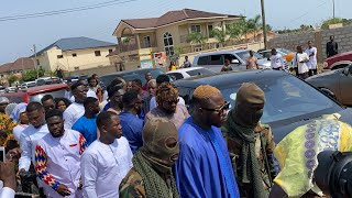 Medikal Arrives With Powerful Convoy At Traditional Wedding