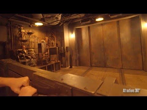 [4K] Front Row - Tower of Terror Ride at Walt Disney World - Disney's Hollywood Studios