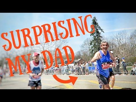 Surprising My Dad At Boston Marathon