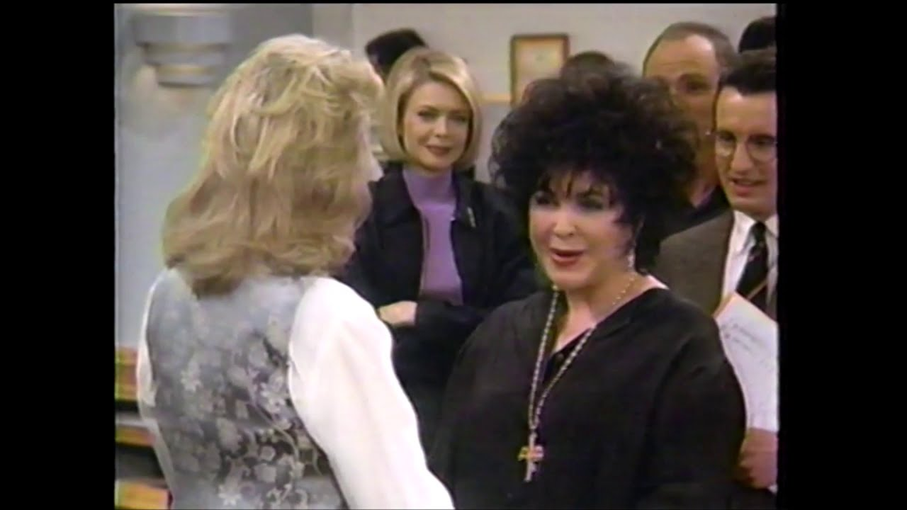 """Download Elizabeth Taylor guest appearance on """"Murphy Brown"""" 1996--Candice Bergen, Faith Ford, Grant Shaud"""