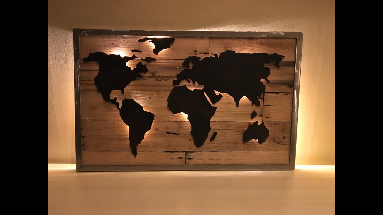Diy reclaimed pallet wood led map part 2 youtube diy reclaimed pallet wood led map part 2 gumiabroncs Choice Image