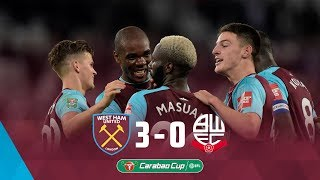 Highlights: west ham united 3-0 bolton wanderers ⚽️