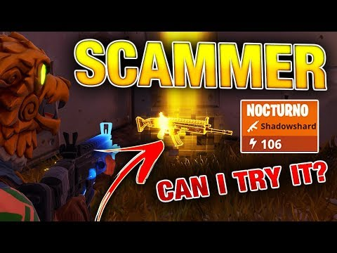 Letting a Scammer Try my Nocturno! | Fortnite Save the World PVE