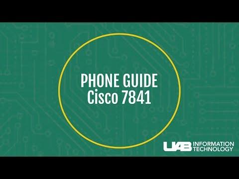 UAB Cisco 7841 Phone Tutorial - YouTube