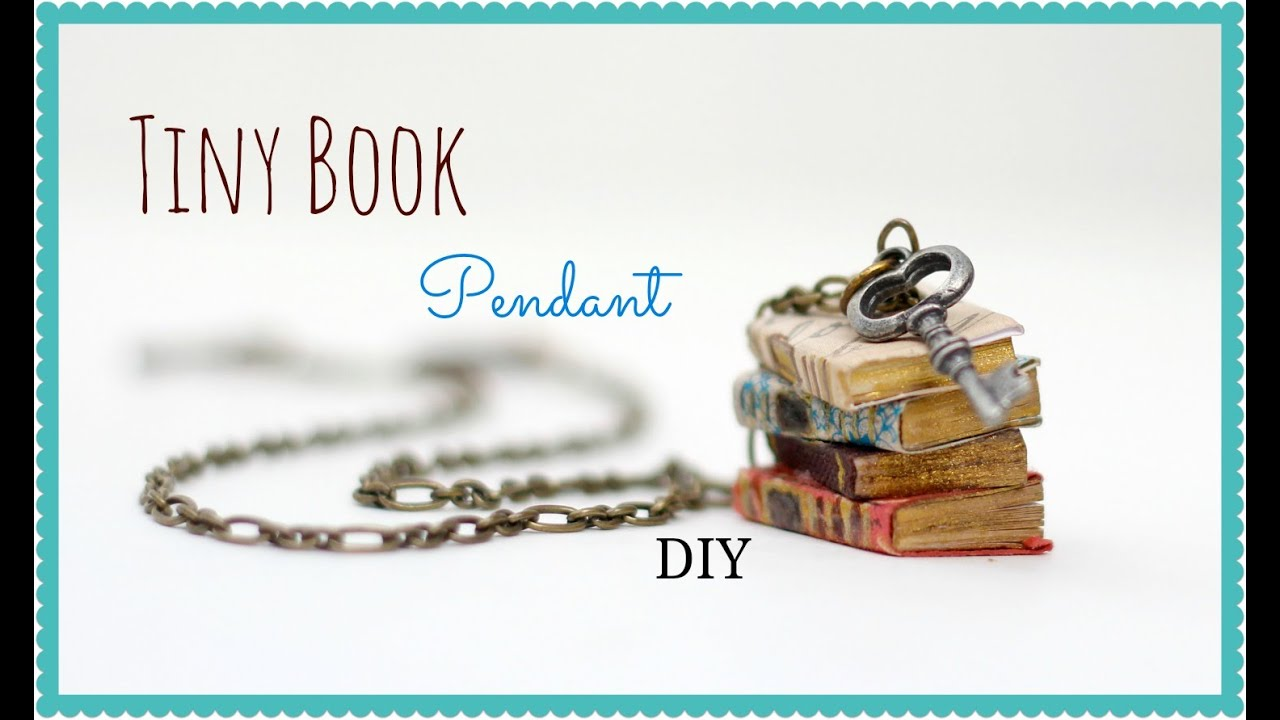 How To Make Book Cover Earrings : How to make a miniature book pendant anthropologie knock