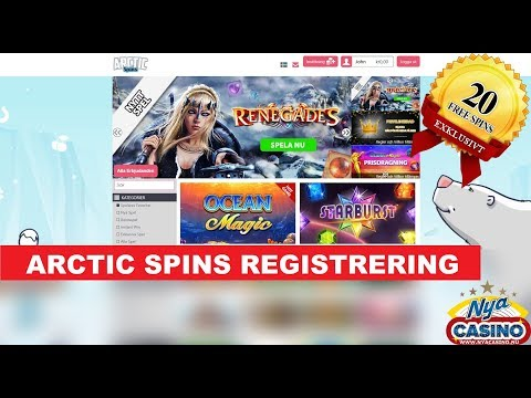 Hur man spelar på ARCTIC casino : Registrering
