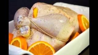 Курица, запеченная с апельсинами. Рецепт