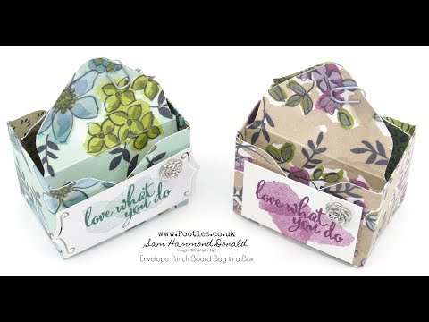 Stampin' Up! Bag in a Box Envelope Punch Board Tutorial using Share What You Love - วันที่ 13 Aug 2018