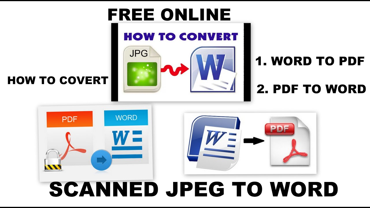 Convert Free Online Jpeg Pdf Word Excel To Any Format Tutorial