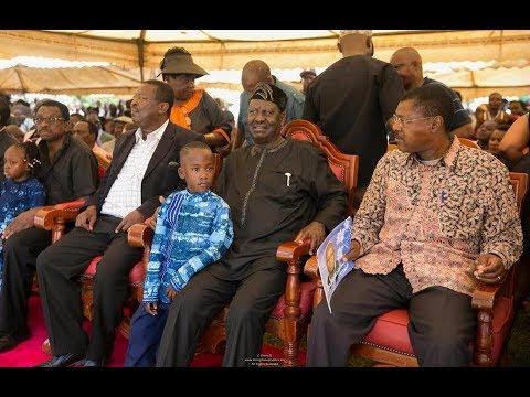 NASA leader  Raila Odinga arrives in Siaya for IEBC ICT Manager Chris Msando's burial
