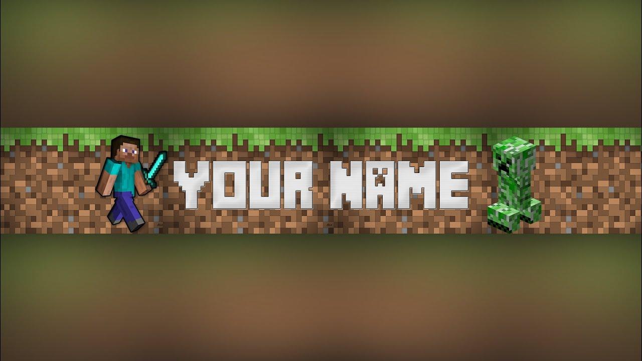 Photoshop Minecraft Banner/Channel Art Template #2 (download .psd ...