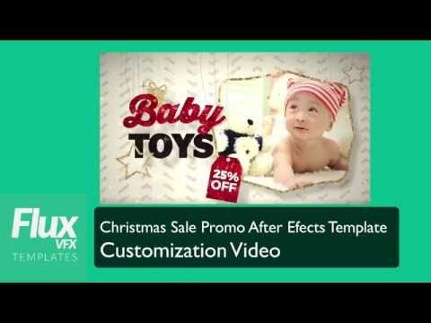 Christmas Sale Promo After Effects Template Customization Video