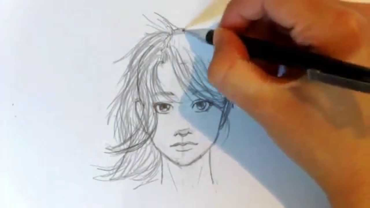 how to draw a perfect semi realistic face youtube