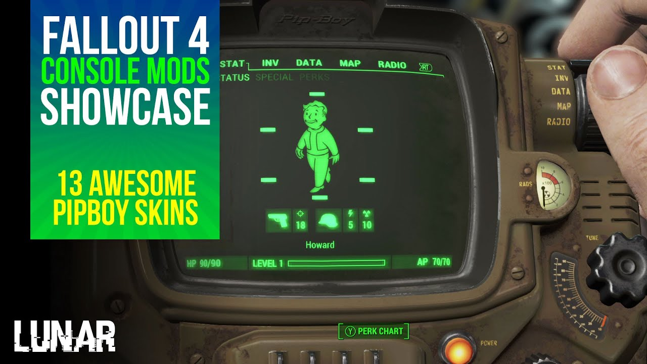 Fallout 4 console mods week 6 13 awesome pip boy skins youtube - What consoles will fallout 4 be on ...
