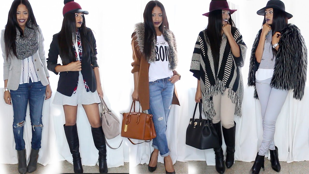 -- WINTER OUTFITS LOOKBOOK -- - YouTube
