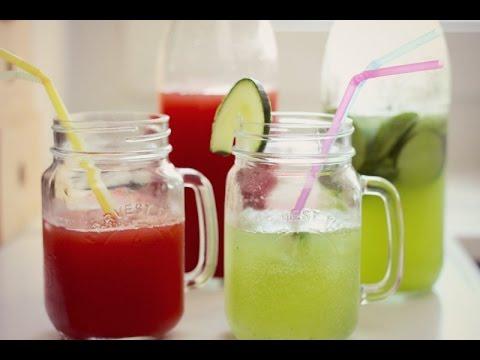 Sommerliche Erfrischungsgetränke   yummy quickie - YouTube