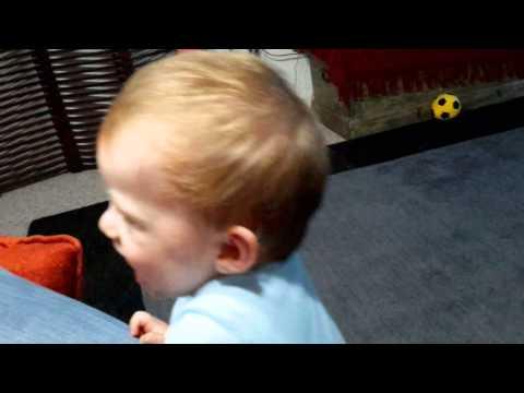 Baby Michael Cronin laughing