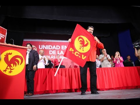 Acto completo del PCV dándole su apoyo a Maduro como candidato presidencial
