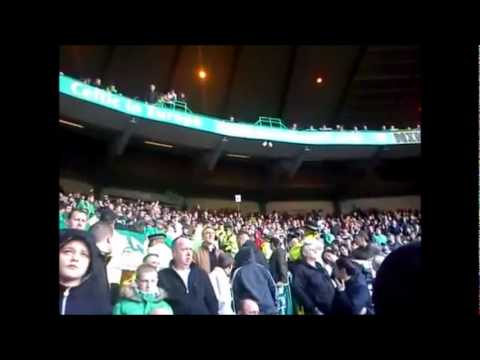 "Green Brigade ""Huns"" Chant And Jostling Police"
