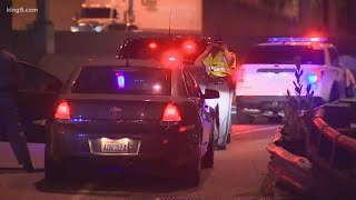 Two protesters hurt after being hit by a car on I-5 in Seattle