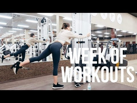 FULL WEEK OF WORKOUTS | Monday - Friday Fitness Routine (vlog)
