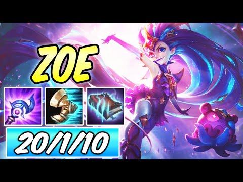 SUMMON AERY ZOE MID   Build & Runes   League of Legends   Star Guardian Zoe