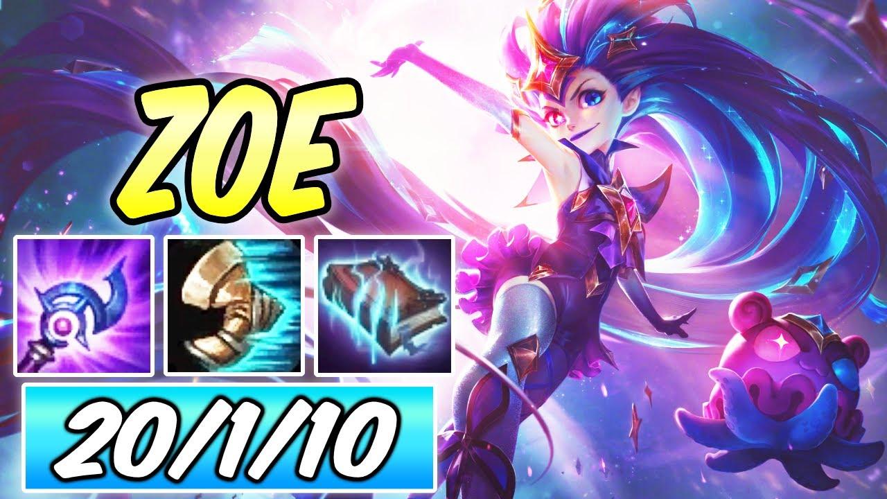 CLEAN ZOE MID | Summon Aery MAX POKE | Build & Runes | League of Legends | Star Guardian Zoe