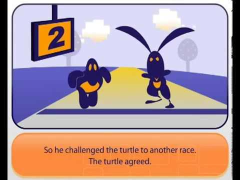 Học tiếng Anh qua truyện cổ tích: Thỏ và Rùa (Sức mạnh đoàn kết)