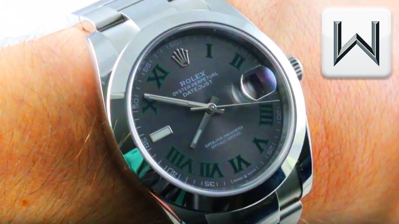 Rolex Datejust 41 Wimbledon Dial / Dark Rhodium (126300) Luxury Watch Review