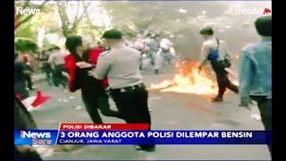 MENCEKAM! Detik-detik 3 Polisi Dibakar saat Kawal Demo Mahasiswa di Cianjur  - iNews Sore15/08