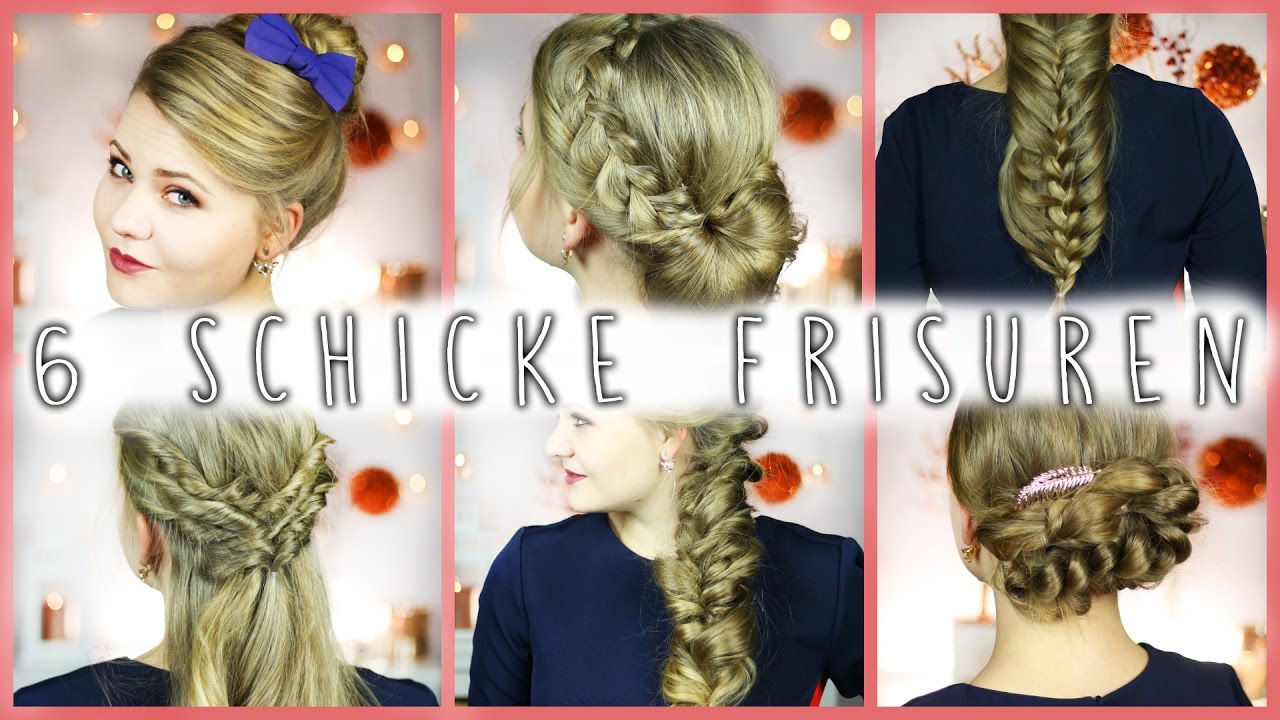 6 Easy Schicke Frisuren Fur Mittel Langes Haar Easy Youtube