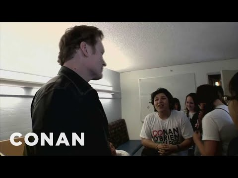 Conan Visits 'Conan O'Brien College' - CONAN on TBS