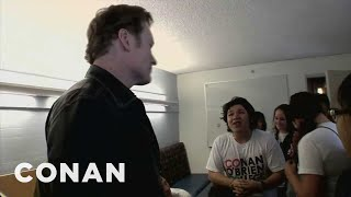 "Conan Visits ""Conan O'Brien College"" - CONAN on TBS"
