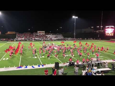 Saraland High School Color guard and band at Andalusia