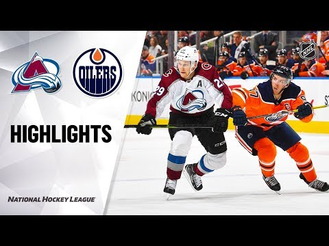 NHL Highlights | Avalanche @ Oilers 11/14/19