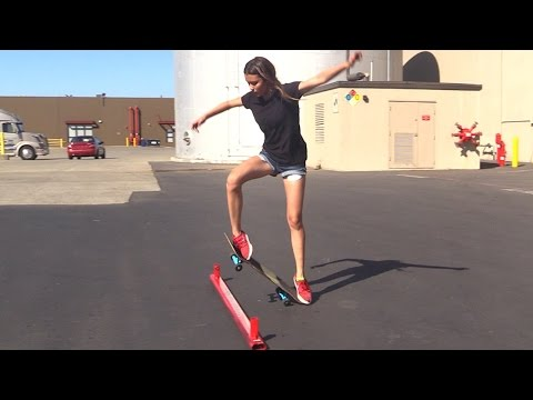 Thumbnail: GIRL LEARNS HER FIRST SKATEBOARD TRICKS | EP 3 OLLIE FIRST STEPS