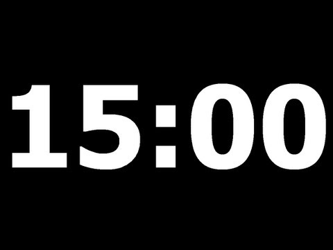 15 Minute Countdown Timer - YouTube