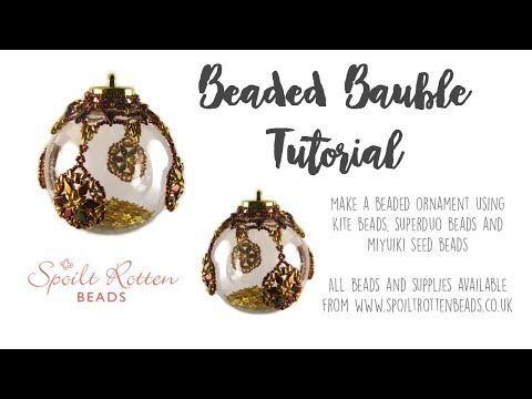 Beaded Bauble with SuperDuo Beads