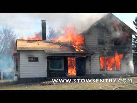 Stow Fire Department's controlled burn