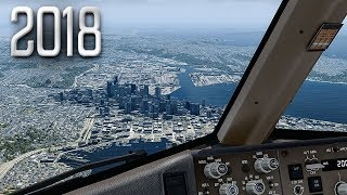 New Flight Simulator 2018 in 4K | Spectacular Approach and Landing in Seattle [Ultra Realism]